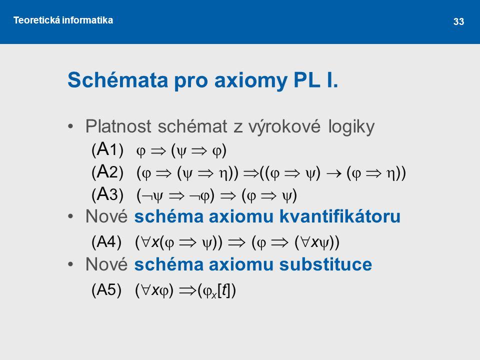 Schémata pro axiomy PL I.