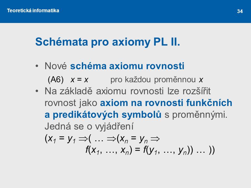 Schémata pro axiomy PL II.