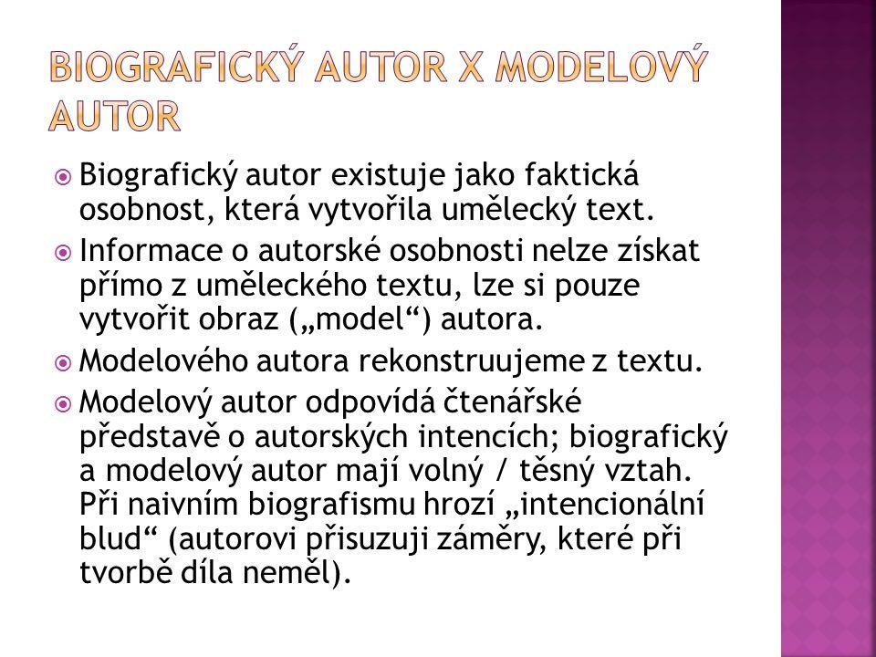 Biografický autor X modelový autor