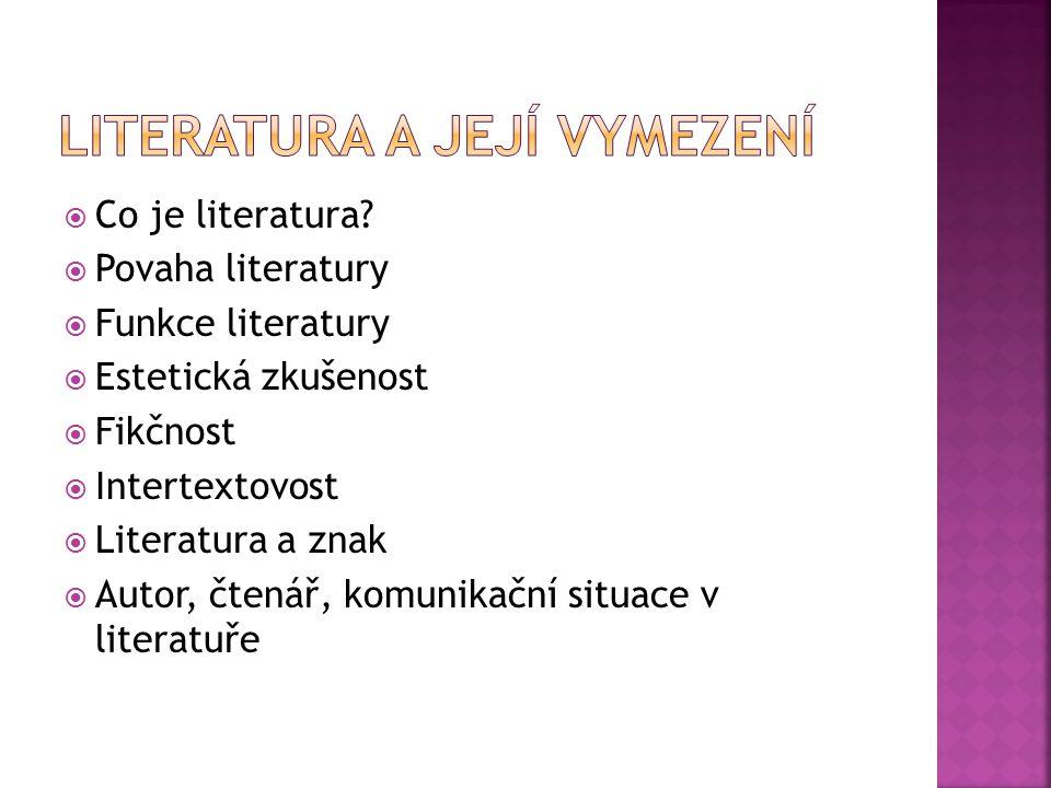 Literatura a její vymezení