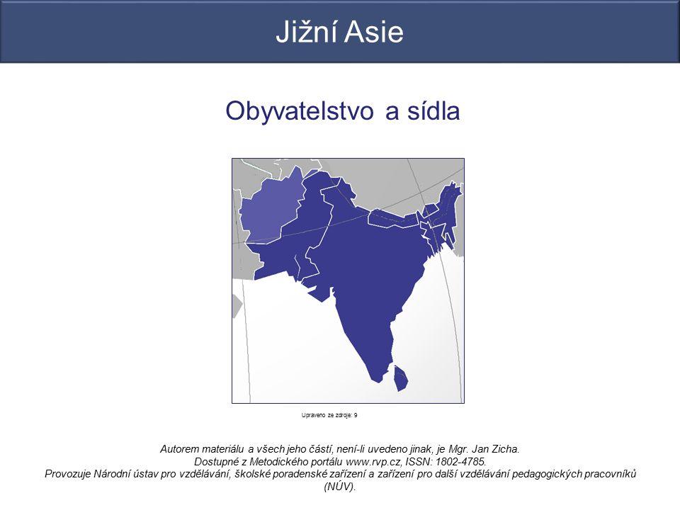 Jižní Asie Obyvatelstvo a sídla