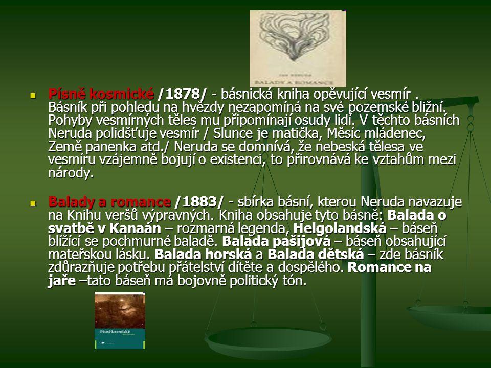Písně kosmické /1878/ - básnická kniha opěvující vesmír