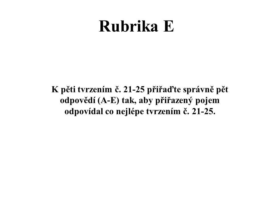 Rubrika E K pěti tvrzením č.