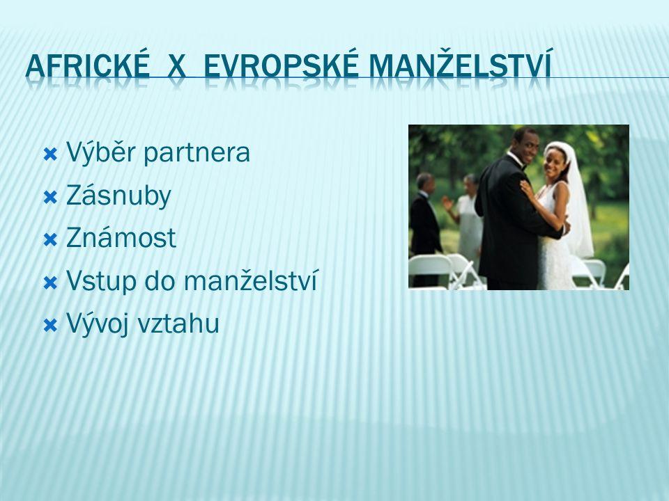 Africké X Evropské manželství