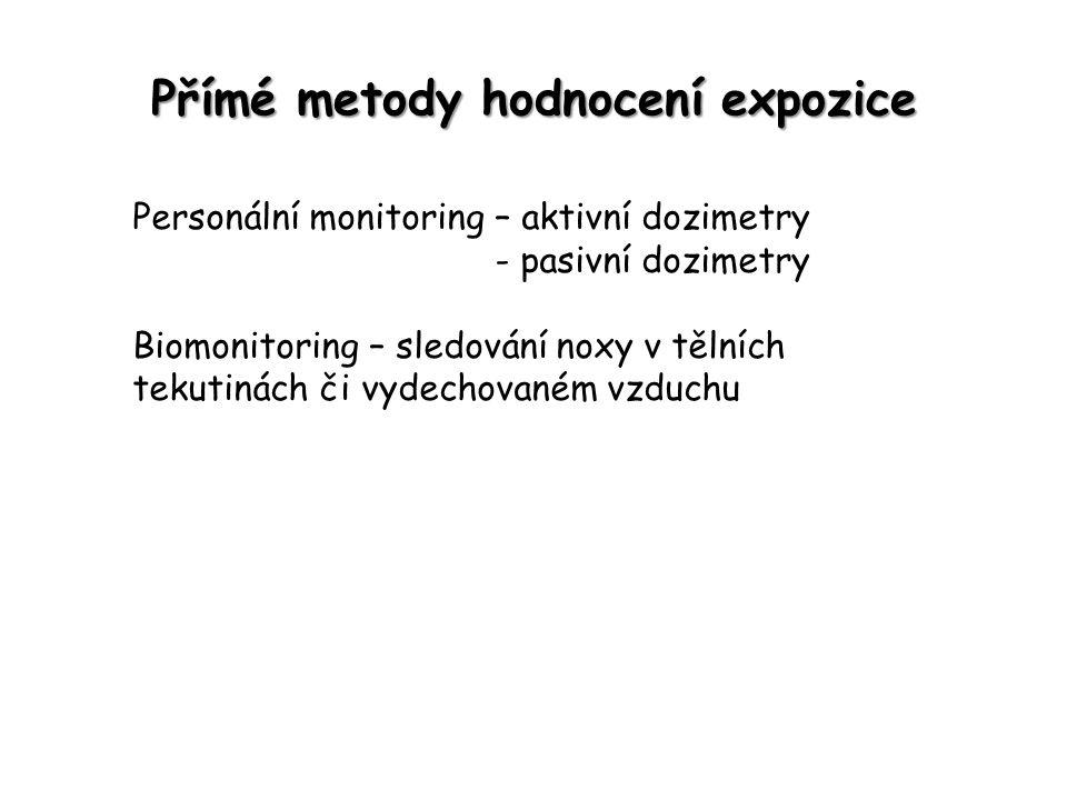 Přímé metody hodnocení expozice