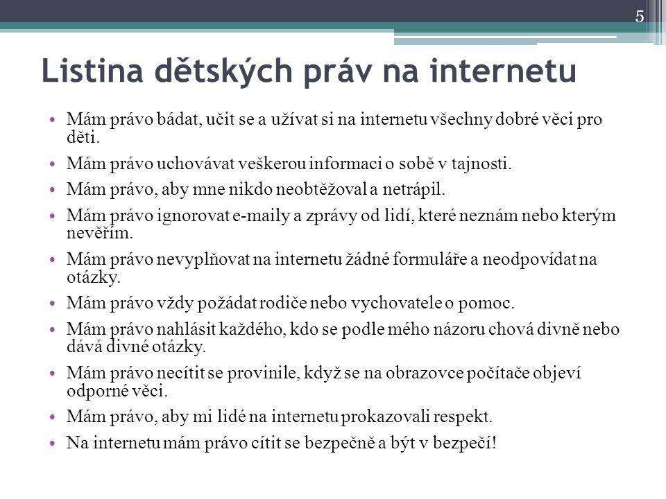 Listina dětských práv na internetu