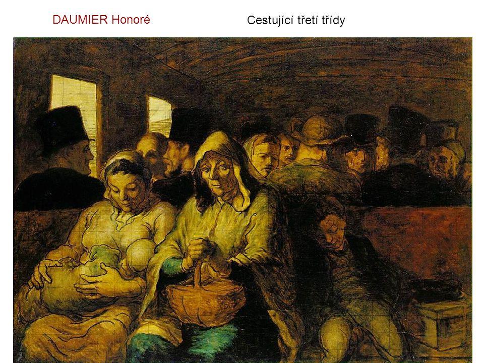 DAUMIER Honoré Cestující třetí třídy