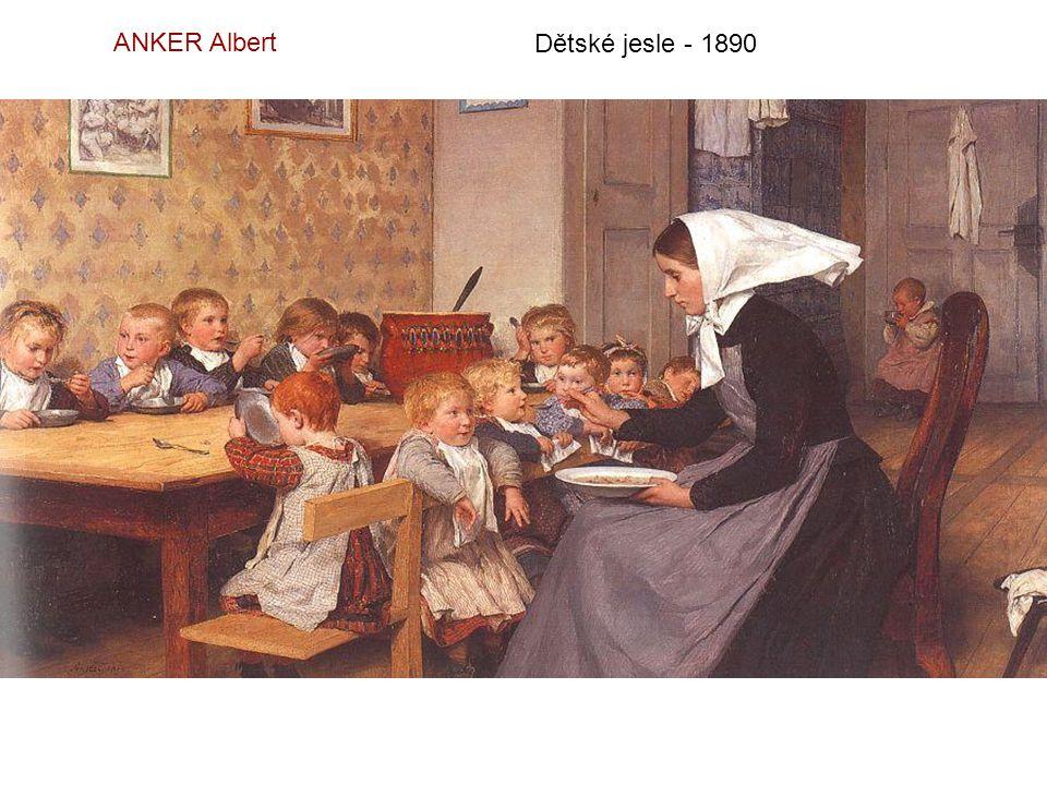 ANKER Albert Dětské jesle - 1890