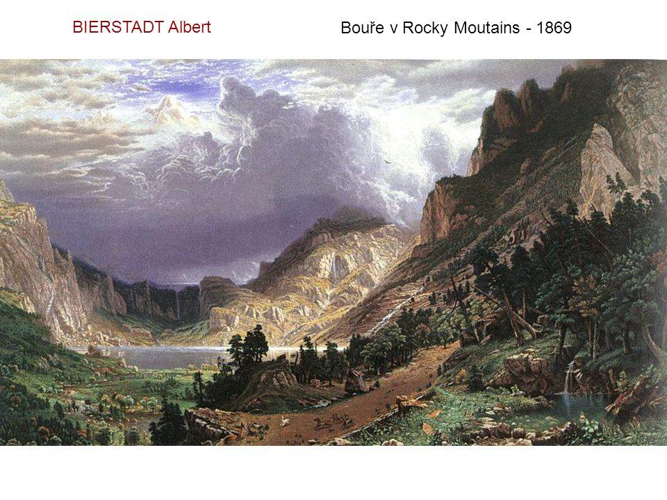 BIERSTADT Albert Bouře v Rocky Moutains - 1869