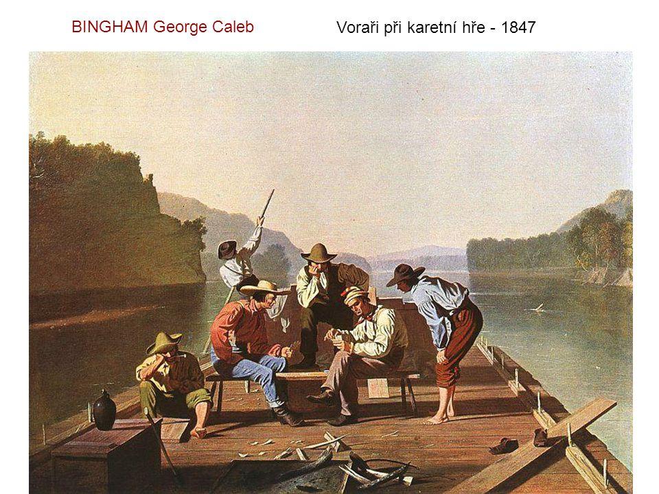 BINGHAM George Caleb Voraři při karetní hře - 1847