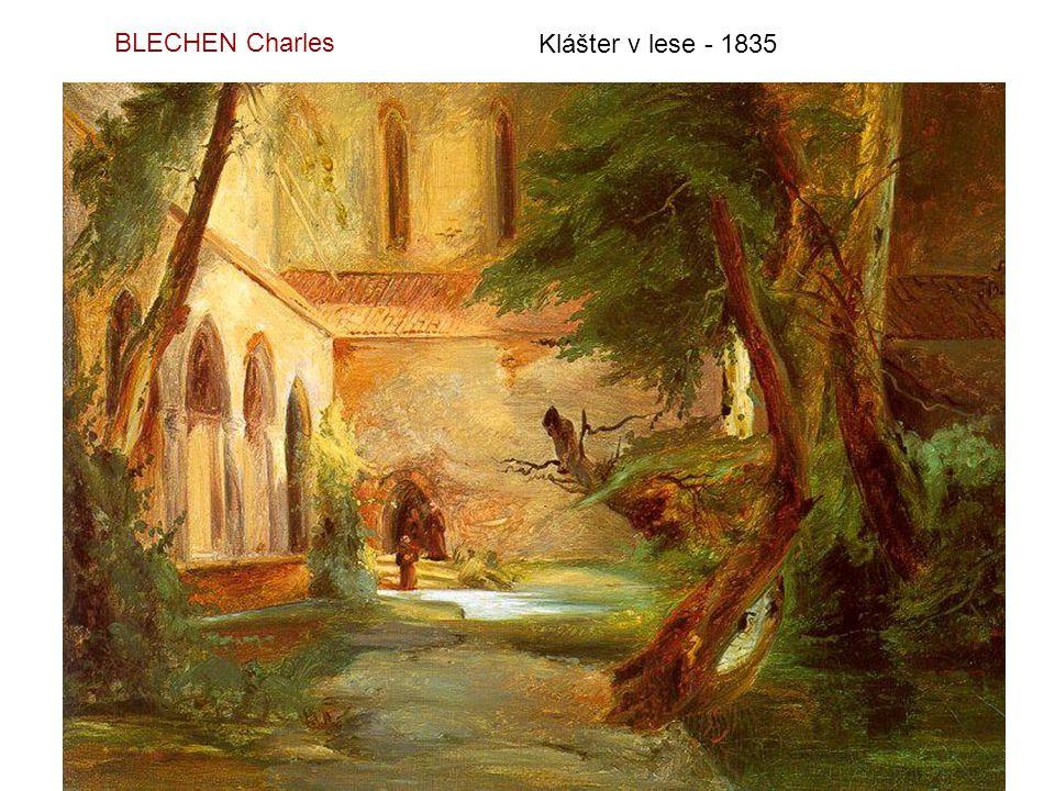 BLECHEN Charles Klášter v lese - 1835