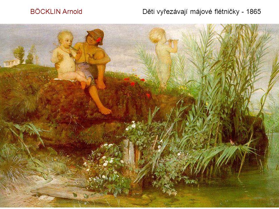 BÖCKLIN Arnold Děti vyřezávají májové flétničky - 1865