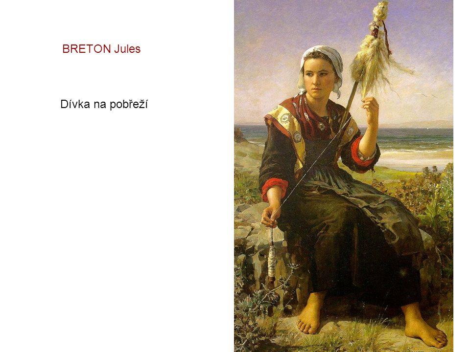 BRETON Jules Dívka na pobřeží
