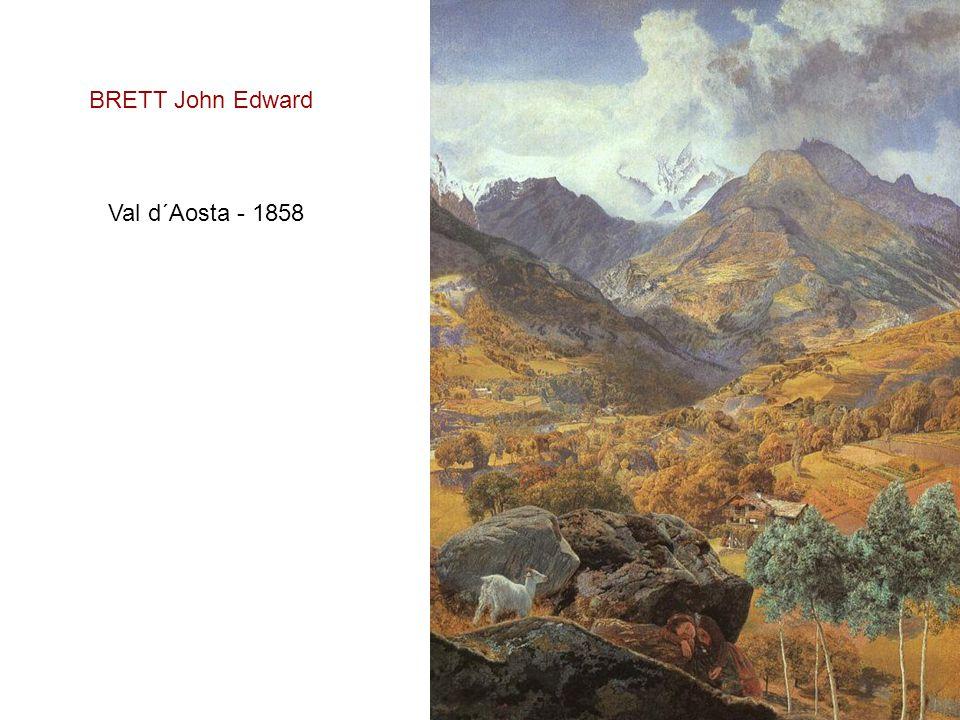 BRETT John Edward Val d´Aosta - 1858