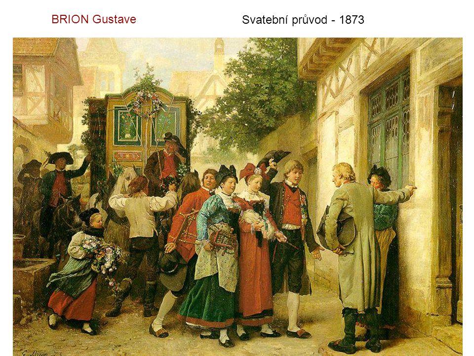 BRION Gustave Svatební průvod - 1873