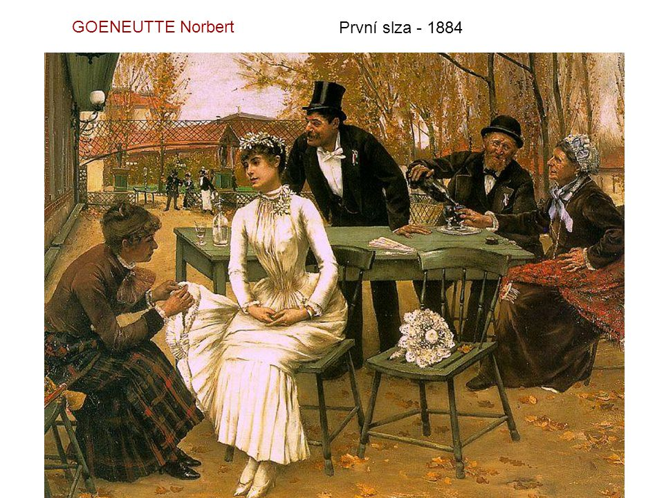 GOENEUTTE Norbert První slza - 1884