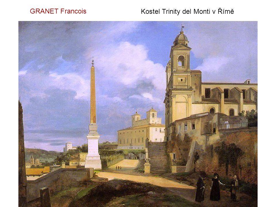 GRANET Francois Kostel Trinity del Monti v Římě