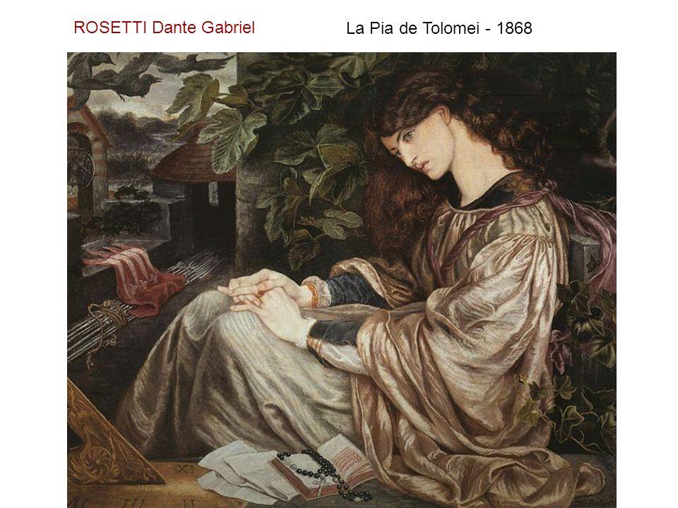ROSETTI Dante Gabriel La Pia de Tolomei - 1868
