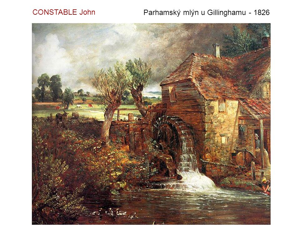 CONSTABLE John Parhamský mlýn u Gillinghamu - 1826