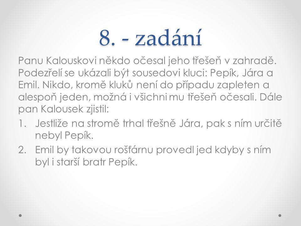8. - zadání