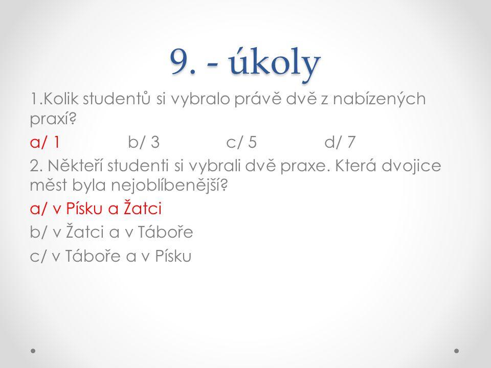 9. - úkoly