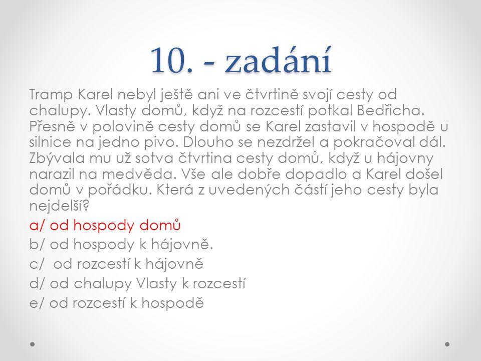 10. - zadání