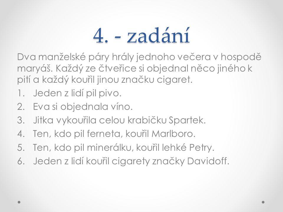 4. - zadání