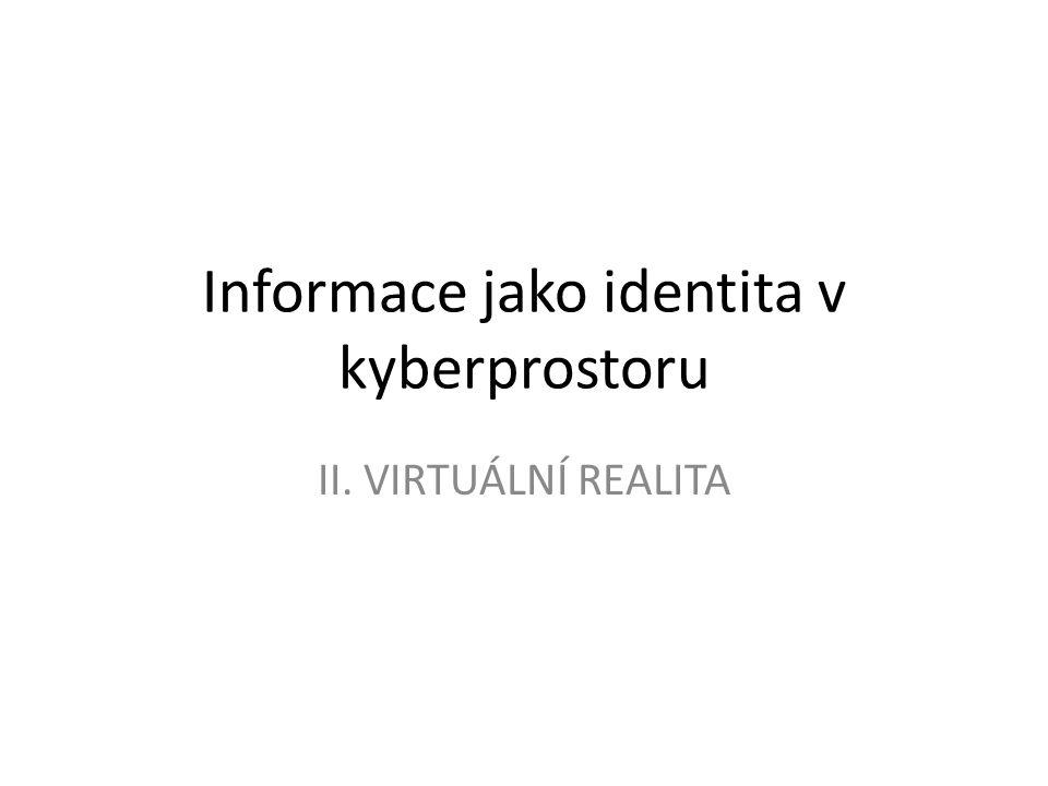 Informace jako identita v kyberprostoru