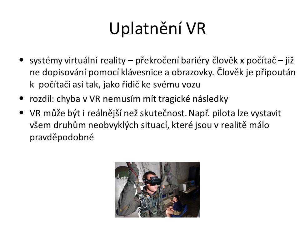 Uplatnění VR