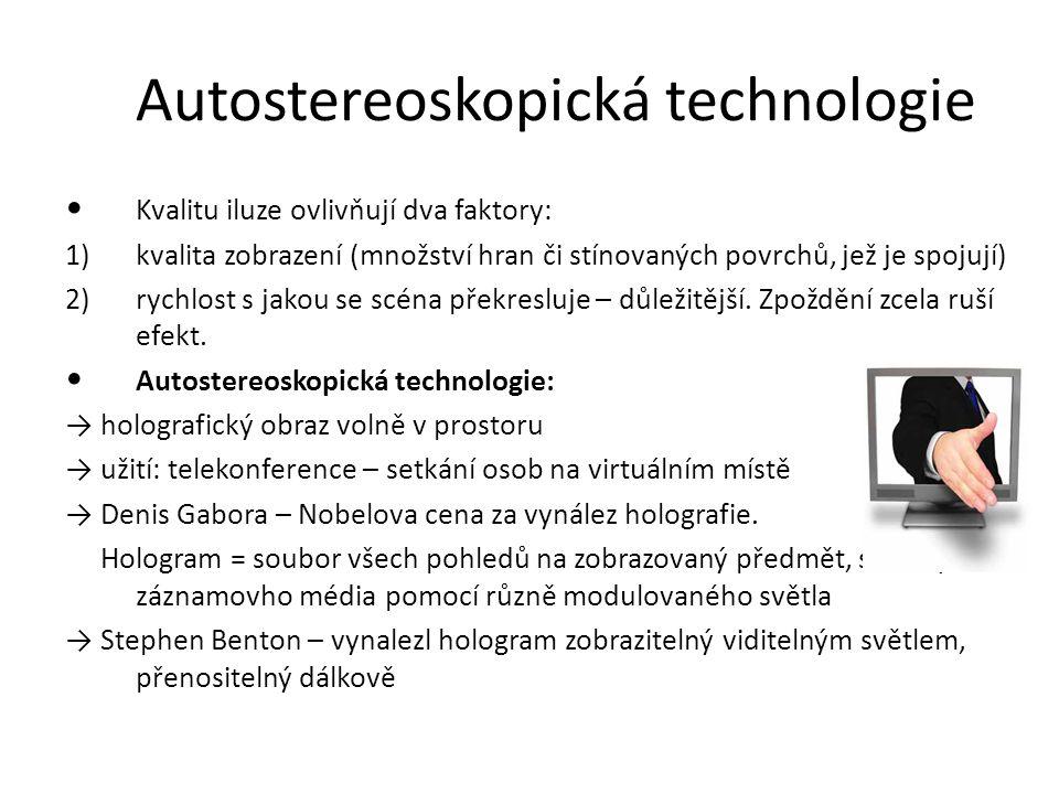 Autostereoskopická technologie