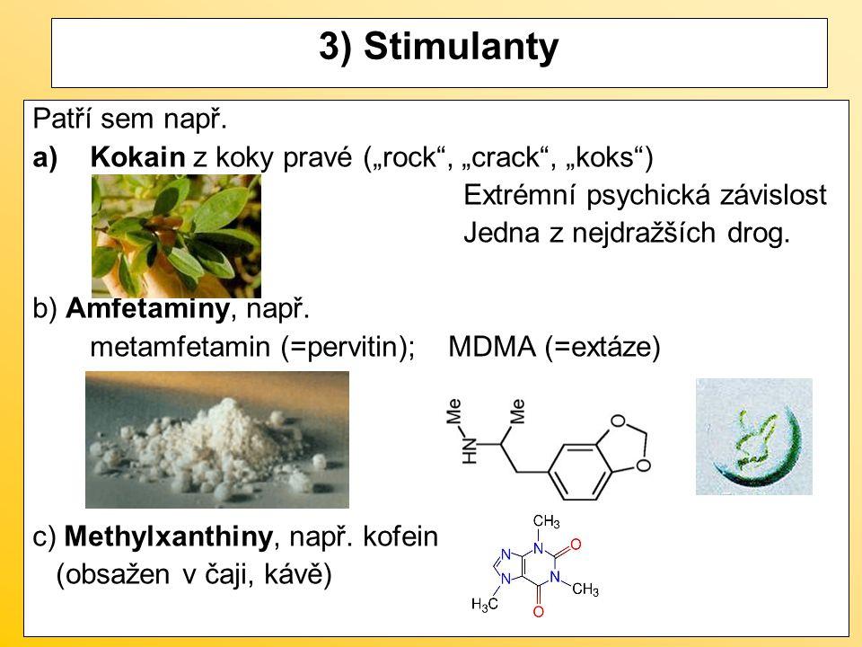 3) Stimulanty Patří sem např.