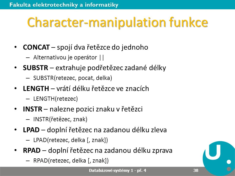 Character-manipulation funkce