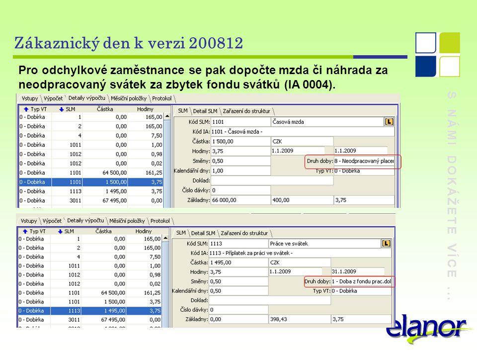 Zákaznický den k verzi 200812 Pro odchylkové zaměstnance se pak dopočte mzda či náhrada za neodpracovaný svátek za zbytek fondu svátků (IA 0004).