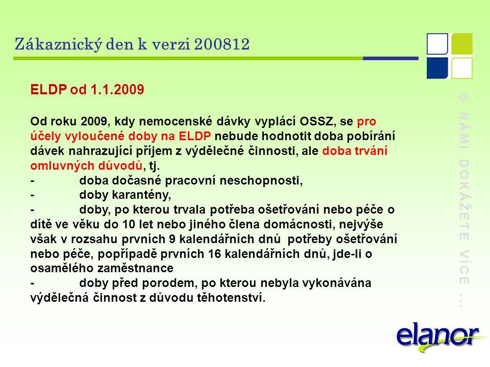 Zákaznický den k verzi 200812 ELDP od 1.1.2009
