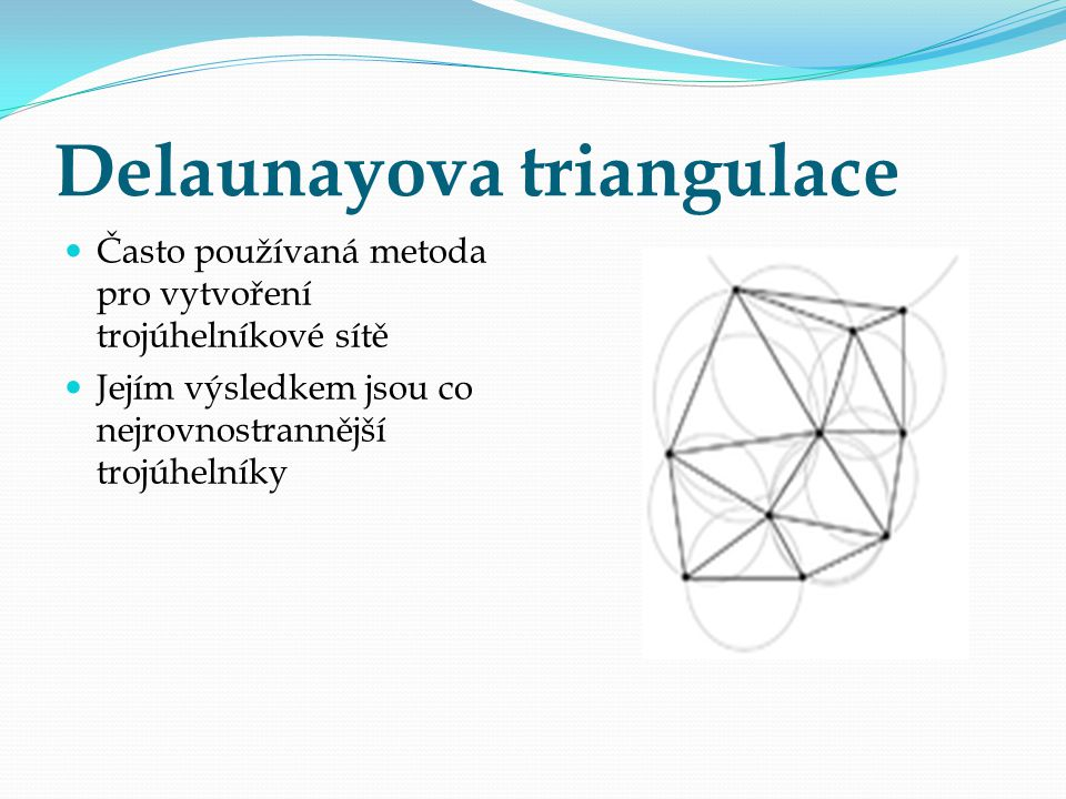 Delaunayova triangulace