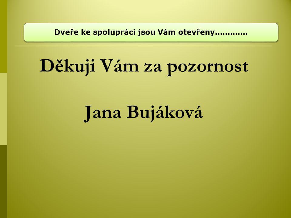 Děkuji Vám za pozornost Jana Bujáková
