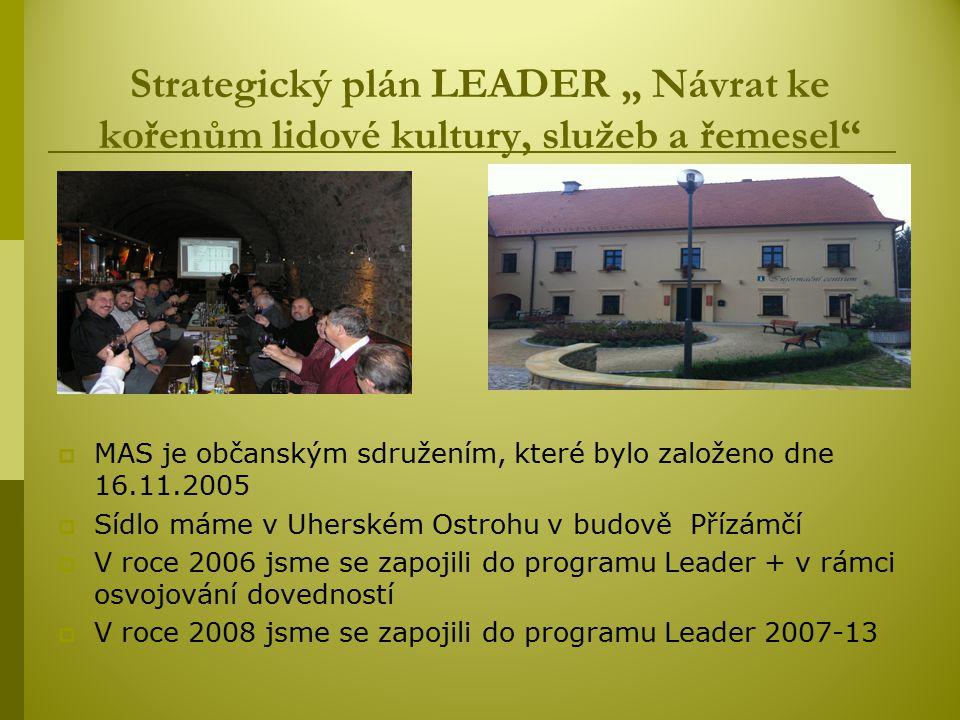 """Strategický plán LEADER """" Návrat ke kořenům lidové kultury, služeb a řemesel"""