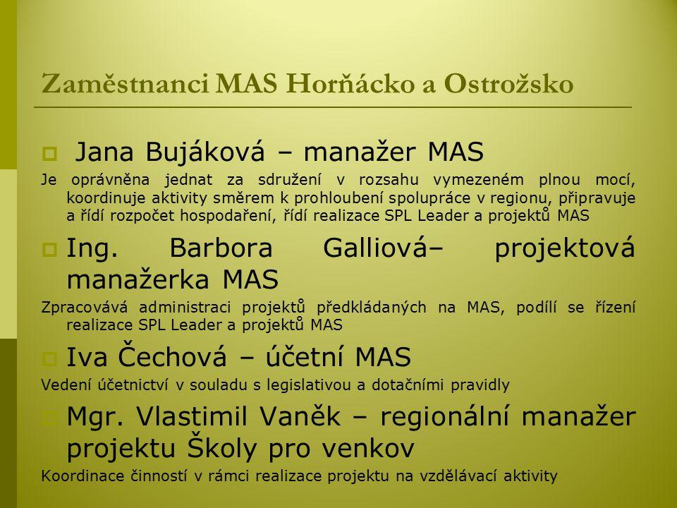 Zaměstnanci MAS Horňácko a Ostrožsko