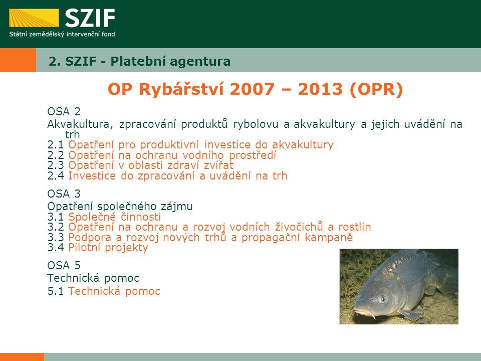 2. SZIF - Platební agentura