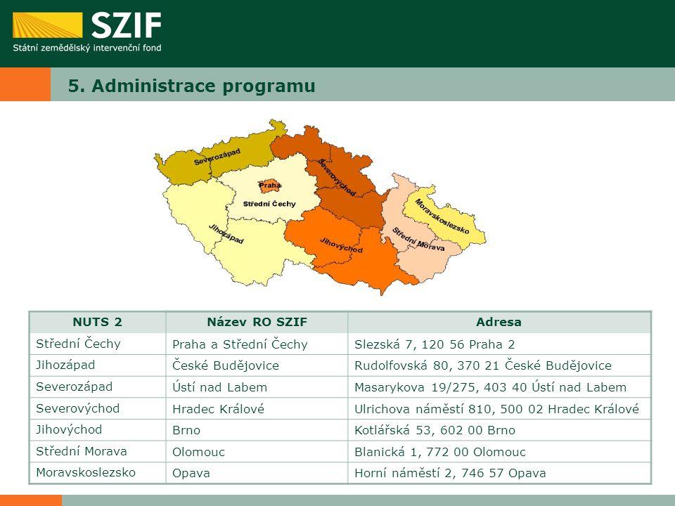 5. Administrace programu