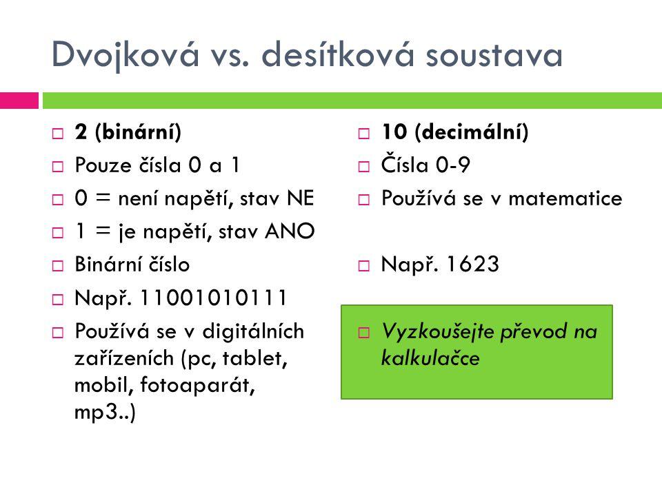 Dvojková vs. desítková soustava