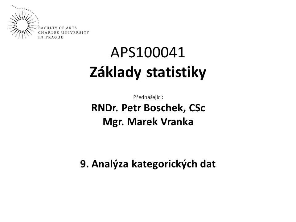 9. Analýza kategorických dat