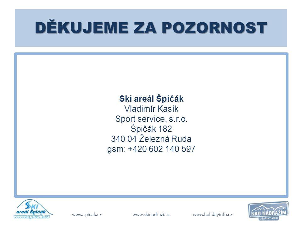 www.spicak.cz www.skinadrazi.cz www.holidayinfo.cz