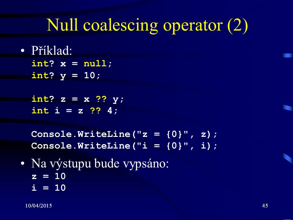 Null coalescing operator (2)