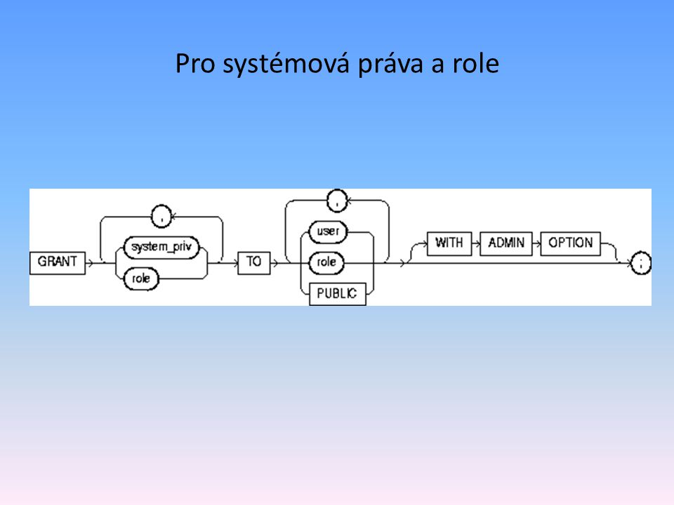 Pro systémová práva a role