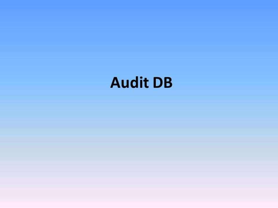 Audit DB