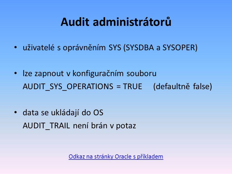 Odkaz na stránky Oracle s příkladem