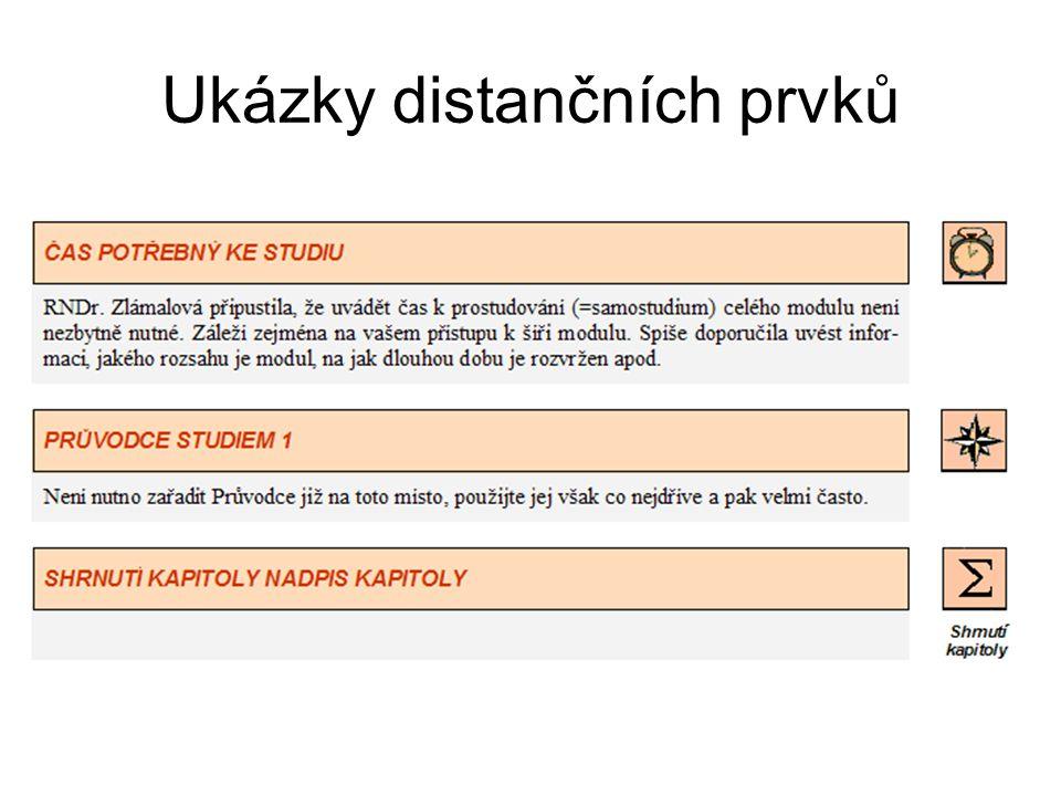 Ukázky distančních prvků