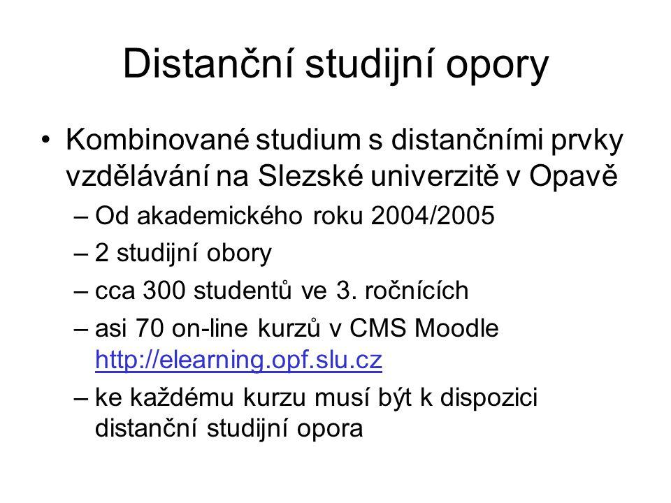 Distanční studijní opory
