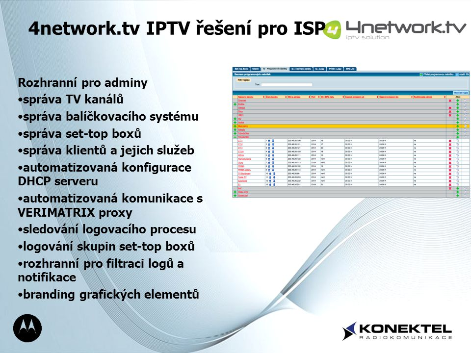 4network.tv IPTV řešení pro ISP